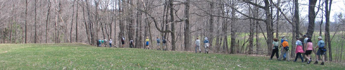 Earth Day, 2008, on the Cayuga Trail - Photo: R. Hopkins